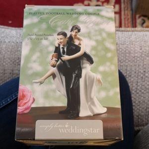 Football Couple Cake Topper/Figurine